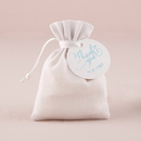 Weddingstar 9731-08 White Linen Drawstring Favor Bag (6) White