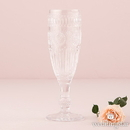 Weddingstar 9762-02 Vintage Style Pressed Glass Flute in Clear