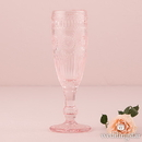 Weddingstar 9762-92 Vintage Style Pressed Glass Flute Pink