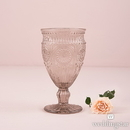 Weddingstar 9763-77 Vintage Style Pressed Glass Goblet in Grey