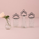 Weddingstar 9764 Vintage Inspired Pressed Glass Vases with Stationery Holders