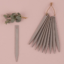 Weddingstar 9829-77 Grey Wooden Stakes with Open Heart Silver