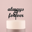 Weddingstar 9833-10 Always & Forever Acrylic Cake Topper - Black