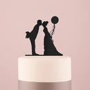 Weddingstar 9844-10 Leaning in Silhouette Acrylic Cake Topper - Black