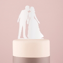 Weddingstar 9848-08 With a Kiss Silhouette Acrylic Cake Topper - White