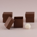 Weddingstar 9870-26 10 Chocolate Brown Square Favor Box with Lid