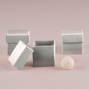 Weddingstar 9871-77 Lustrous Silver Favor Box with Lid (10)