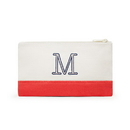 Weddingstar K42009-07 Colorblock Makeup Bag - Coral / Soft Red