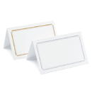 Weddingstar P50-77 Package of 50 Double Border Card - Silver