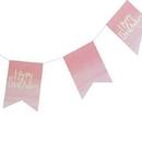 Weddingstar T330 Happy Birthday Banner - Pink Watercolor