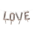Weddingstar T447-77 Silver Mylar Foil Letter Balloon Decoration - Love