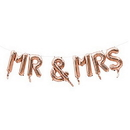 Weddingstar T448-56 Rose Gold Mylar Foil Letter Balloon Decoration - Mr & Mrs