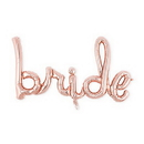 Weddingstar T449-56 Rose Gold Mylar Foil Letter Balloon Decoration - Cursive Bride