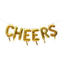 Weddingstar T454-55 Gold Mylar Foil Letter Balloon Decoration - Cheers
