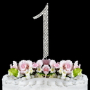 Elegance by Carbonneau 1-Completely-Covered Completely Covered ~ Swarovski Crystal Wedding Cake Topper ~ Number 1