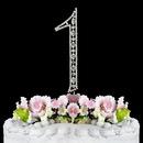 Elegance by Carbonneau 1-Vintage Vintage ~ Swarovski Crystal Wedding Cake Topper ~ Number 1
