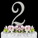 Elegance by Carbonneau 2-Completely-Covered Completely Covered ~ Swarovski Crystal Wedding Cake Topper ~ Number 2