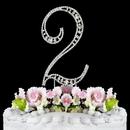 Elegance by Carbonneau 2-Vintage Vintage ~ Swarovski Crystal Wedding Cake Topper ~ Number 2