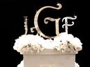 Elegance by Carbonneau 3-Piece-Set-Monogram-Harrington-Lettering-Swarovski-Crystal-Flower-Accent-Wedding-Monogram-Cake-Jewlery Crystal Wedding Cake Jewelry