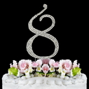 Elegance by Carbonneau 8-Completely-Covered Completely Covered ~ Swarovski Crystal Wedding Cake Topper ~ Number 8