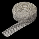 Elegance by Carbonneau 8 Row Rhinestone Mesh Ribbon (5 Yards per roll)