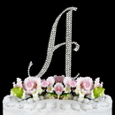 Elegance by Carbonneau A-Completely-Covered Completely Covered ~ Swarovski Crystal Wedding Cake Topper ~ Letter A