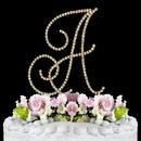 Elegance by Carbonneau A-Renaissance-Gold Renaissance ~ Swarovski Crystal Wedding Cake Topper ~ Gold Letter A