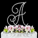 Elegance by Carbonneau A-Renaissance-Silver Renaissance ~ Swarovski Crystal Wedding Cake Topper ~ Silver Letter A