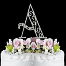 Elegance by Carbonneau A-Roman Romanesque ~ Swarovski Crystal Wedding Cake Topper ~ Letter A