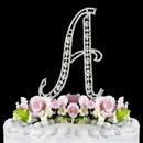 Elegance by Carbonneau A-Vintage Vintage ~ Swarovski Crystal Wedding Cake Topper ~ Letter A