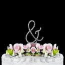 Elegance by Carbonneau American-Ampersand-S-R Renaissance ~ Swarovski Crystal Wedding Cake Topper ~ Small Silver Ampersand &