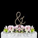 Elegance by Carbonneau Ampersand-S-RG Renaissance ~ Swarovski Crystal Wedding Cake Topper ~ Gold Ampersand &