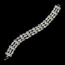 Elegance by Carbonneau B-10458-Silver Silver Clear Bridal Bracelet B 10458