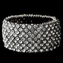 Elegance by Carbonneau B-1330-S-CL Silver Clear Rhinestone Stretch Bracelet