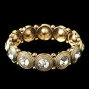 Elegance by Carbonneau B-2222-G-CL Gold Clear Round Rhinestone Stretch Bracelet 2222