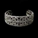 Elegance by Carbonneau B-2488--AS-Clear Vintage Silver Clear Cubic Zirconia Bangle Bracelet 2488