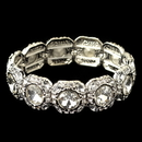Elegance by Carbonneau B-291-RD-CL Rhodium Clear Rhinestone Stretch Bracelet 291