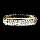 Elegance by Carbonneau B-6108-G-White Gold with White Enamel Bangle Fashion Bracelet 6108