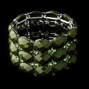 Elegance by Carbonneau B-7230-Olive Olive Bangle Bracelet 7230