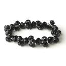 Elegance by Carbonneau B-7617-Black Black Flower Bracelet 7617