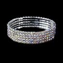 Elegance by Carbonneau B-8015-AB AB 5 Row Stretch Rhinestone Bracelet B8015 AB