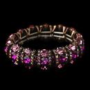 Elegance by Carbonneau Copper Fuchsia & AB Rhinestone Stretch Bracelet 8181