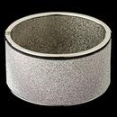 Elegance by Carbonneau B-82001-S Silver Glitter Sparkle Wide Bangle Bracelet 82001