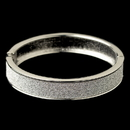 Elegance by Carbonneau B-82002-S Silver Glitter Sparkle Bangle Bracelet 82002