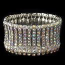 Elegance by Carbonneau B-82023-RD-AB Rhodium AB Rhinestone Stretch Bracelet 82023