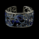 Elegance by Carbonneau B-8246-Silver-blue Silver and Blue Bridal Bracelet B 8246