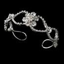 Elegance by Carbonneau B-8306 Silver Clear Floral Bracelet B 8306