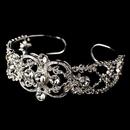Elegance by Carbonneau B-8307 Silver Clear Vintage Cuff Bracelet B 8307