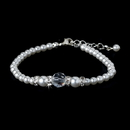 Elegance by Carbonneau B-8368-White White Silver with Clear Crystal Bracelet 8368