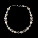 Elegance by Carbonneau B-8438-Silver-Ivory Bracelet 8438 Silver Ivory